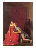 Paolo and Francesca Prints by Jean-Auguste-Dominique Ingres