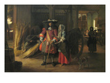 Paying the Hostess Print by Pieter de Hooch