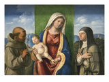Madonna and Child with Saints Francis and Clare Print by Giovanni Battista Cima