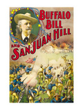 Buffalo Bill and San Juan Hill Premium Giclee Print