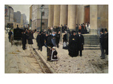 The Church of Saint Philippe De Roule, Paris, France Prints by Jean Béraud