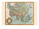 Asia Print by Jodocus Hondius