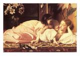 Mutter und Kind Poster von Frederick Leighton