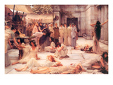 The Women of Amphissa Premium Giclee Print by Sir Lawrence Alma-Tadema