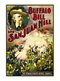 Buffalo at San Juan Hill - Rough Riders Heroic Charge Print