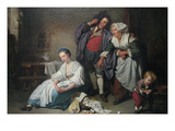 Broken Eggs Print by Jean Baptiste Greuze