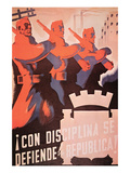The Republic Is Defended with Discipline Posters by  Parrilla