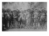 Pancho Villa and His Bandits with Bandoliers and Guns Posters