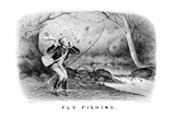 Fly Fishing Prints by  Currier & Ives
