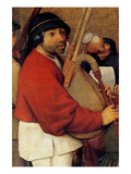 Wedding Banquet - Detail Print by Pieter Breughel the Elder