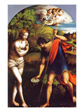 Baptism of Christ Posters by Girolamo Parmigianino