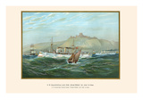 "H.M. 2nd Class Protected Cruisers ""Princess Wilhelm"" and ""Irene"" at Dover Print by G. Arnold"