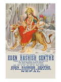 Eden Hashish Center Print by Yozendra Rastosa