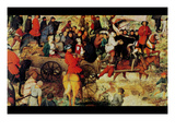 Procession to Cavalry - Detail Print by Pieter Breughel the Elder