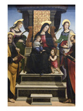 Madonna and Child Enthroned with Saints, Altarpiece Affiches par  Raphael