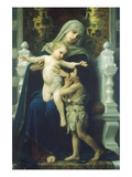Virgin Mary and Jesus Premium Giclee Print by William Adolphe Bouguereau