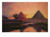 Pyramids at Gizeh Prints by Thomas Seddon