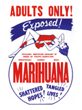 Adults Only! Marihuana Posters