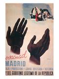 Evacuate Madrid Prints by  Canavate