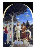 Kristi dåb Kunst af Piero della Francesca