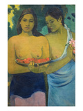 Two Tahitian Women Posters by Paul Gauguin