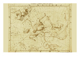 Cassiopea Cepheu Ursa Minor Draco Prints by Sir John Flamsteed