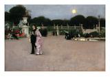 Le jardin du Luxembourg Poster par John Singer Sargent