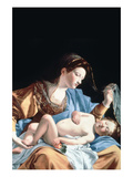 Madonna with Sleeping Christ Child Plakater af Artemisia Gentileschi