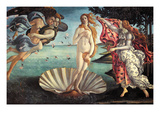 La naissance de Vénus Affiches par Sandro Botticelli