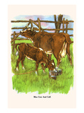 Moo Cow and Calf Prints by  Bird & Haumann