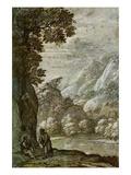 Claude Lorrain - Christs Seduction in Wilderness - Tablo