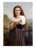 The Young Shepherdess Posters by William Adolphe Bouguereau