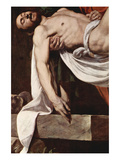 Putting Christ in the Tomb Premium Giclee Print by  Caravaggio