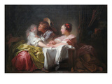 The Stolen Kiss Prints by Jean-Honoré Fragonard