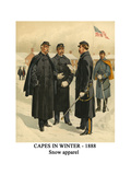 Capes in Winter - 1888 - Snow Apparel Print by Henry Alexander Ogden