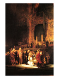 Christ and the Adultress Art by  Rembrandt van Rijn
