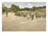 The Lake for Miniature Yachts Posters by William Merritt Chase
