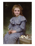 Daises Art by William Adolphe Bouguereau