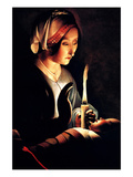 Saint Anna with the Christ Child by La Tour Premium Giclee Print by Georges de La Tour