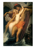 The Fisherman and the Siren Poster von Frederick Leighton