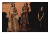 Three Queens of the Underground Kingdom Kunstdrucke von Victor Mikhailovich Vasnetsov