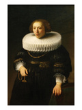 Woman with a Ruff Collar Prints by  Rembrandt van Rijn