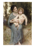 The Little Brother Prints by William Adolphe Bouguereau