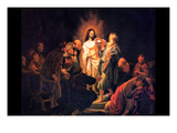 Doubting Thomas by Rembrandt Prints by  Rembrandt van Rijn