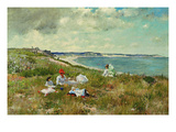 Idle Hours Premium Giclee Print by William Merritt Chase