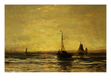 Return of the Fleet at Sunset Art by Hendrik William Mesdag