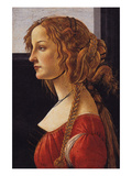 A Young Woman - Simonetti Vespucci Prints by Sandro Botticelli