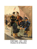 Fort R&R - 1851 - 1854 - Checkers for All Branches Art by Henry Alexander Ogden