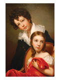 Michael Angelo and Emma Clara Peale, Ca. 1826 Art by Rembrandt Peale