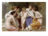 Admiration Art by William Adolphe Bouguereau